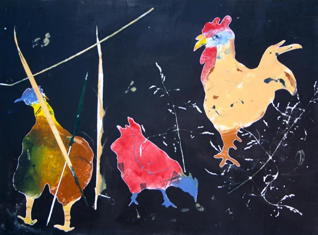 Chicken Yard at Night ©